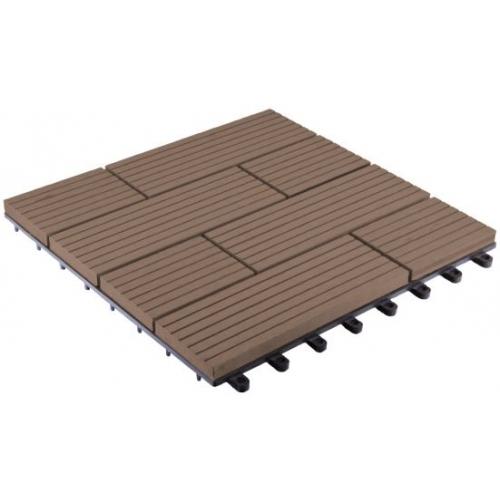 WPC dlaždice G21 Samoa indický teak 2,3x30x30 cm 6391001