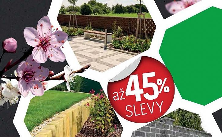 Jarní slevy na betonové výrobky až 45%