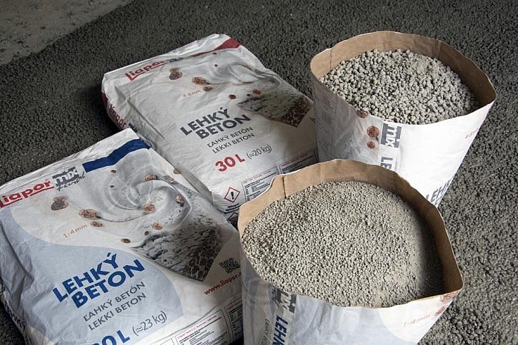 Alternativa rychlé podlahy s lehkým betonem Liapor Mix a Liapor Mix Final.