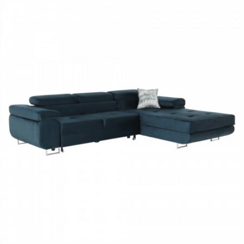 Rohová sedací souprava, modrá, pravá, AMARETA, Tempo Kondela