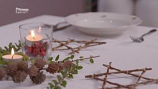 Předvánoční výzdoba stolu
