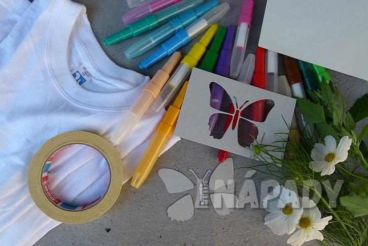 Rozkvetlé tričko aneb Pohrajte si s foukacími fixy 1
