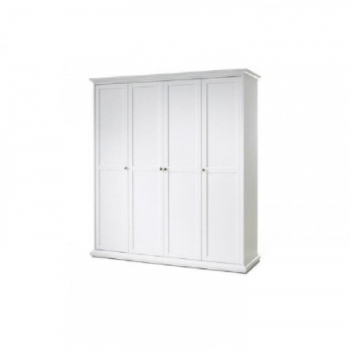 Věšáková skříň, bílá, PARIS 4D 75354
