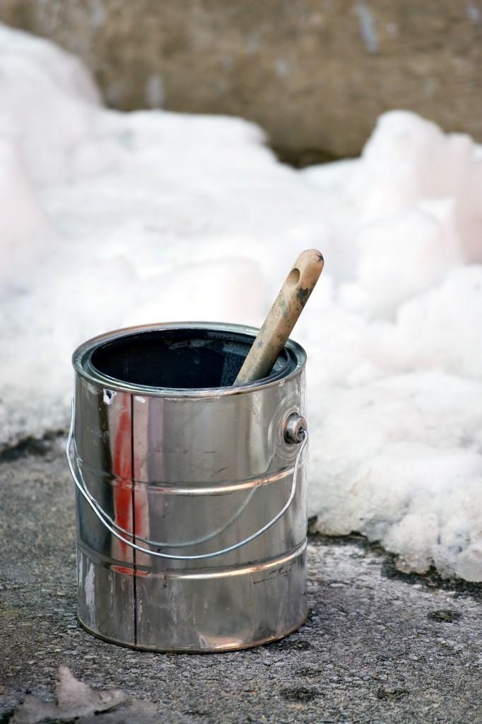 U nátěrových hmot může dojít k vymrznutí pojiva