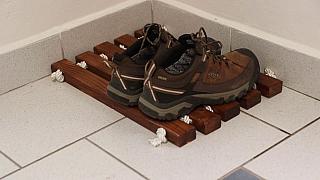 Vyrobte si originální rohožku na odkládání bot