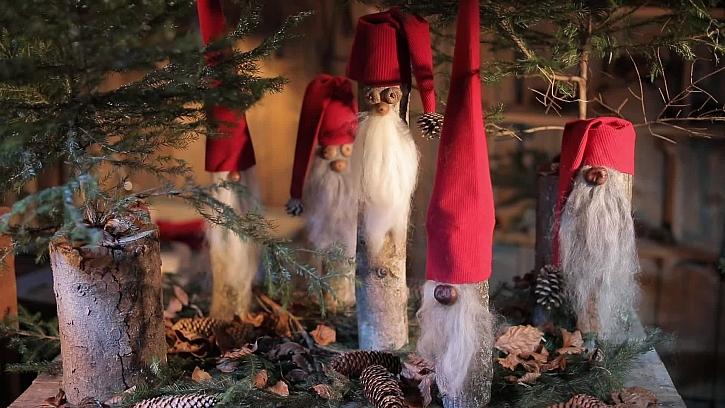 Vychytaný vánoční skřítek z polínka bude ozdobou vaší domácnosti