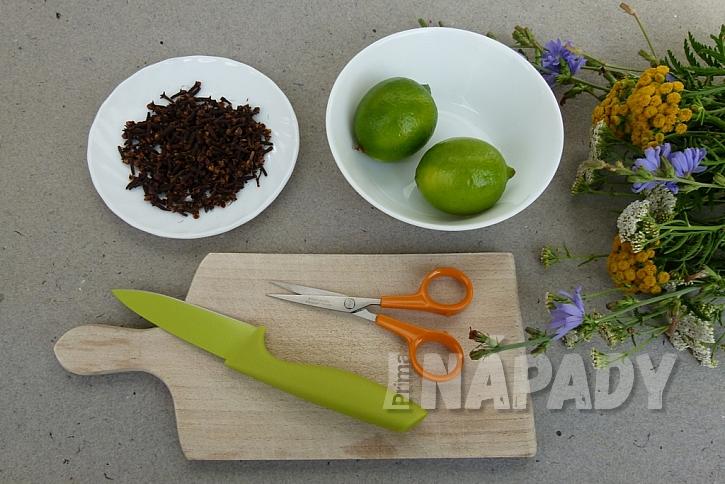 Jak udržet komáry dál od našeho stolu: Limetky a voňavý hřebíček 1