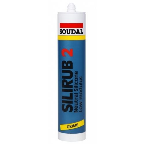 SOUDAL SILIRUB 2 neutrální silikonový tmel 310 ml, černá