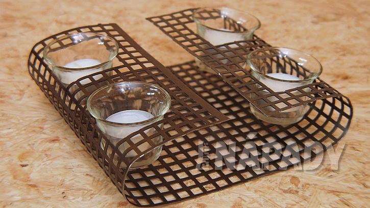 Stojánek na svíčky i ohříváček na čaj: svícen