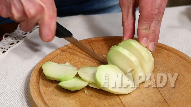 Recept na zadělávané knedlíčky s knedlíčky: nakrájíme kedlubny