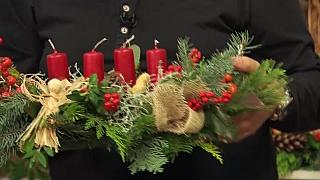 Adventní věnec ve stylu Českých Vánoc