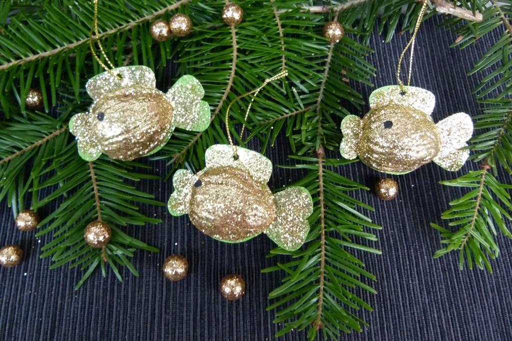 Zlaté rybky na vánoční stromeček