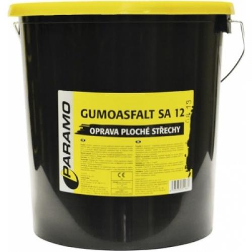 Gumoasfalt SA 12 asfaltový nátěr na opravu střech černý, 30 kg