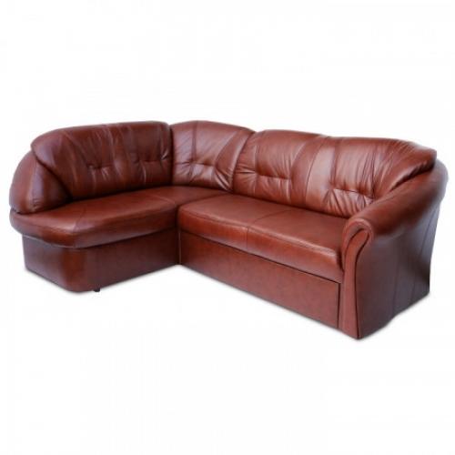 Luxusní sedací souprava, kůže / ekokůže hnědočervená, levá, LAREDO, Tempo Kondela