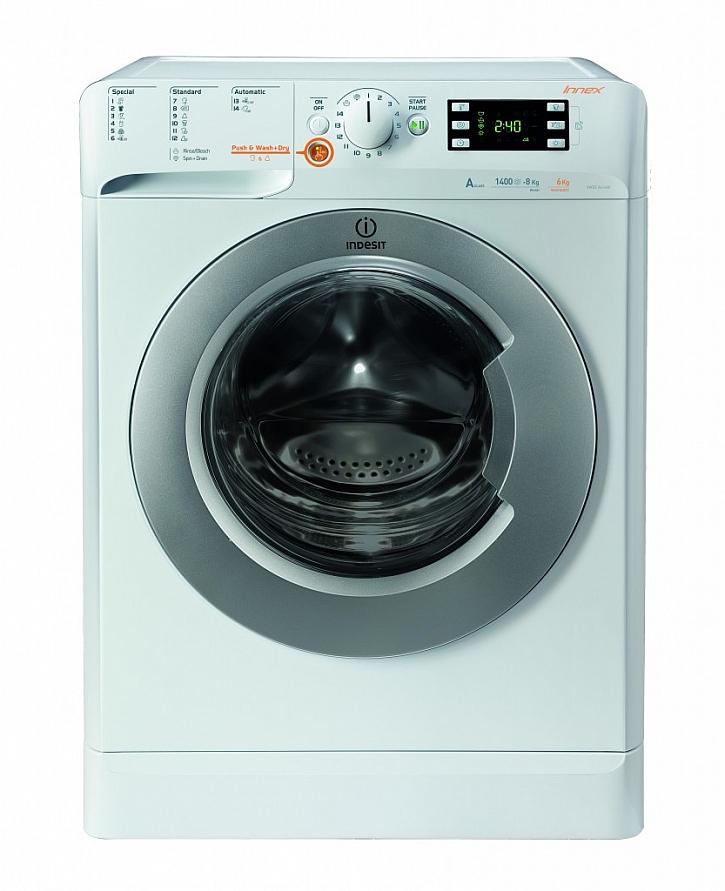 Pračka se sušičkou Indesit INNEX XWDE 961480X WSSS EU na jeden stisk tlačítka