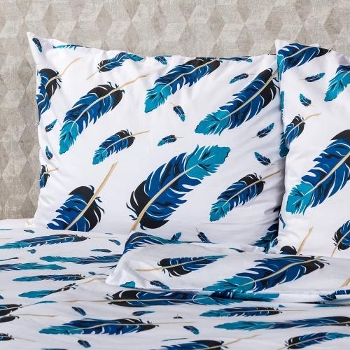 4Home Bavlněné povlečení Feathers, 220 x 200 cm, 2 ks 70 x 90 cm