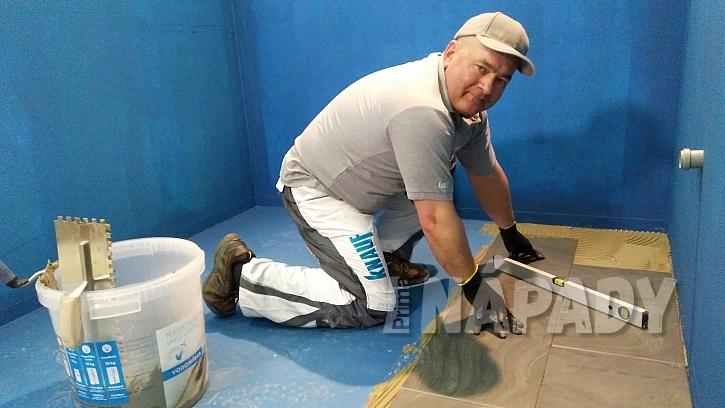 Hydroizolace koupelny: vyrovnávání podle vodováhy