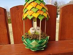 Vytvořte si podle návodu k Velikonocům patchworkové hnízdo pro kuřátka