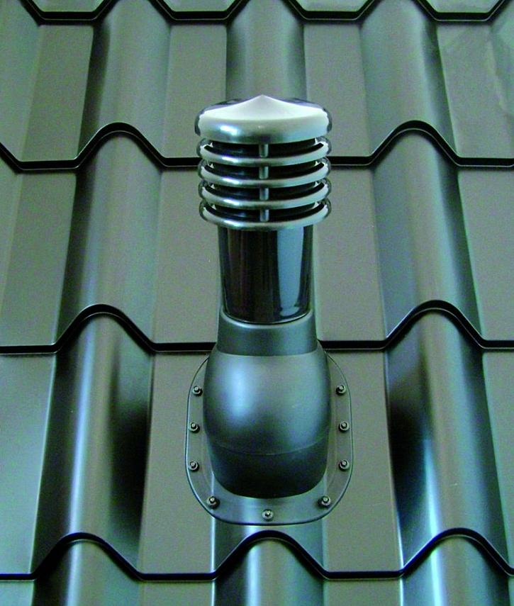 Odvětrávací sety - základní taška + větrací komínek průměru 110 a 150 pro zajištění odvětrání skrz plechové a betonové krytiny