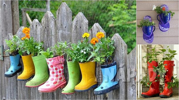 Barevná zahrada: děravé botky