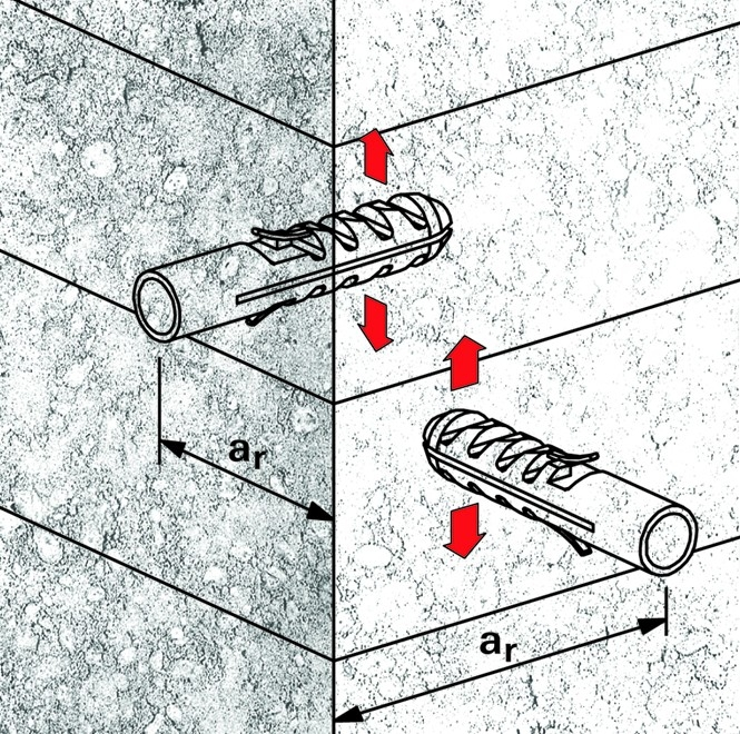 Stěny z betonu a plné cihly