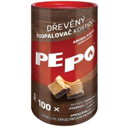 PE-PO dřevěný podpalovač kostičky 100ks