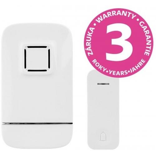PANLUX PIEZO BELL bezdrátový zvonek do zásuvky s bezbateriovým tlačítkem, bílá