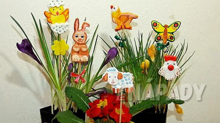 Velikonoční zapichovátka do květináčů: najdeme místo, kam je zapíchneme