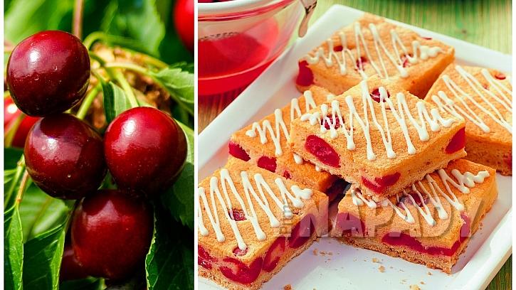 Recepty s třešněmi: plněné třešňové řezy