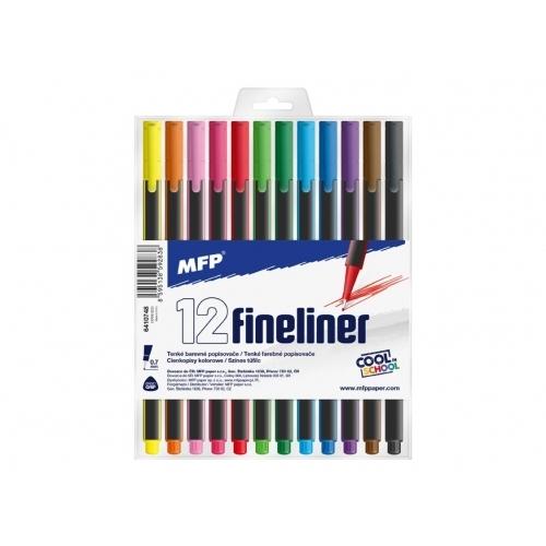 MFP popisovač FL 12 barev 0,7mm trojhranné