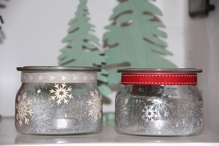 Výroba vánočních svícnů ze starých zavařovaček