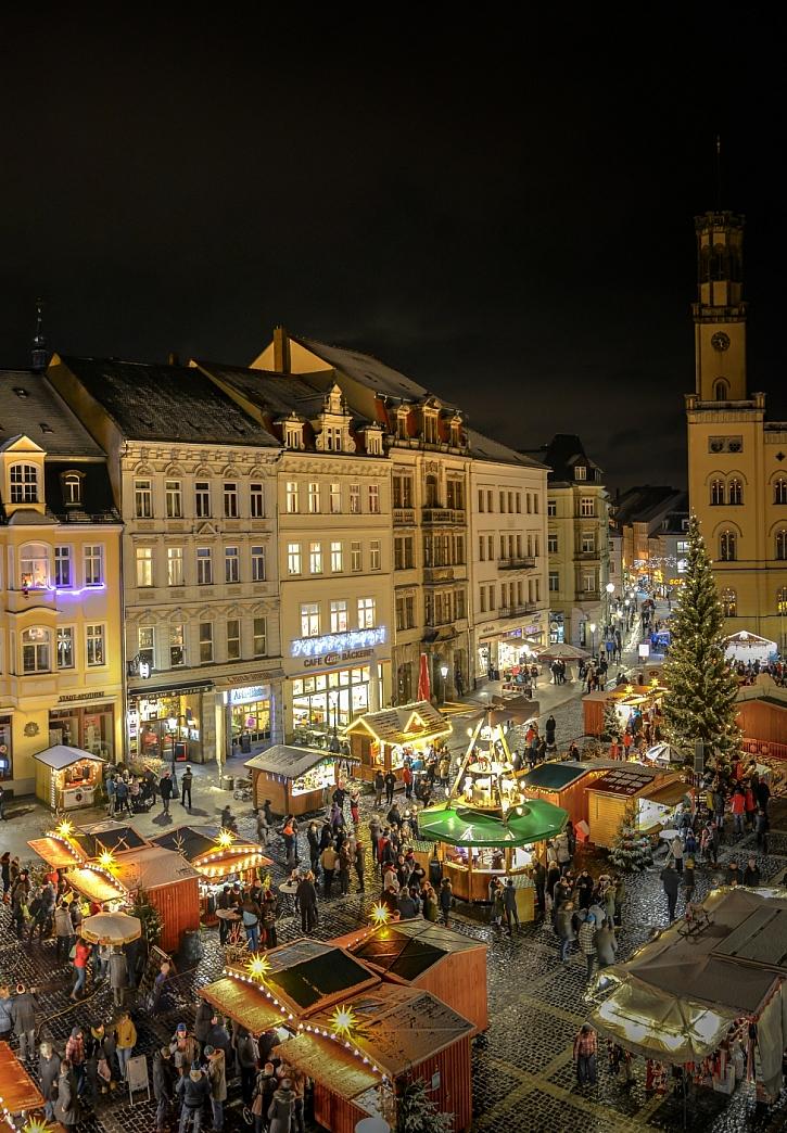 Vánoční trhy v Žitavě na náměstí