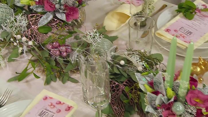 Sváteční výzdoba stolu