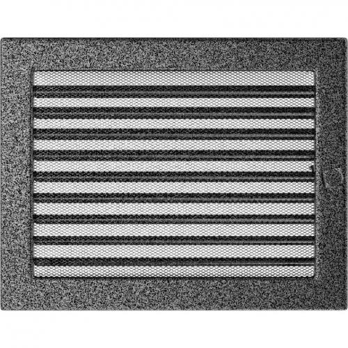 Krbová mřížka 22x30 BASIC staré stříbro s žaluzií