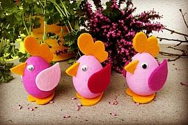 Velikonoční slepičky: Jarní dekorace vromantické růžové