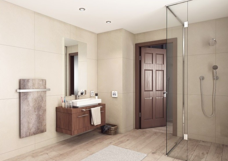 Sálavé panely k vytápění každé koupelny jako dělané