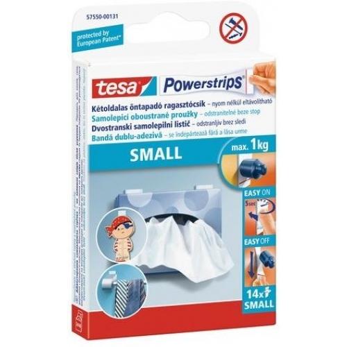 TESA Powerstrips Small, malé oboustranné proužky na připevňování, bílé, nosnost 1kg