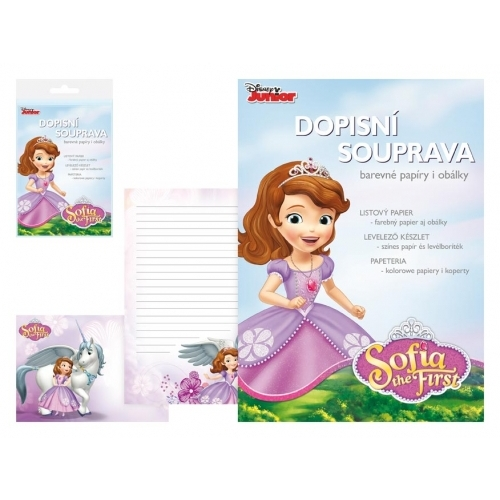 MFP dopisní papír barevný LUX 5+10 Disney (Sofia the First)