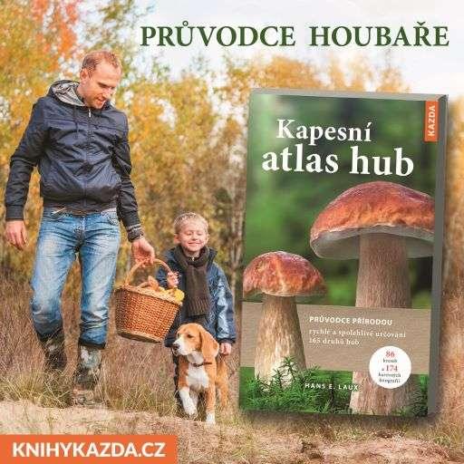 Hans E. Laux: Kapesní atlas hub a Folko Kulman: Vše o pěstování hub (Zdroj: Nakladatelství Kazda)