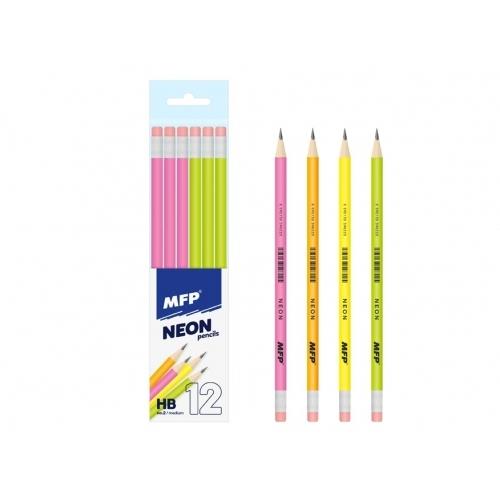 MFP tužka M s pryží - HB NEON