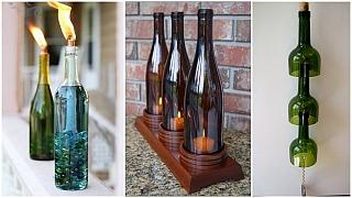 Skleněné láhve jako báječný materiál pro tvoření