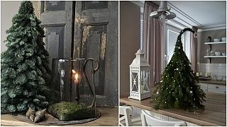 Vánoční stromek z větví i větviček