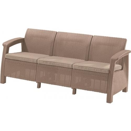 ALLIBERT CORFU LOVE Seat max pohovka, 182 x 70 x 79cm, cappucinno/písková