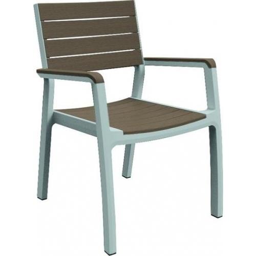 KETER HARMONY zahradní židle, 58 x 58 x 86 cm, bílá/cappuccino