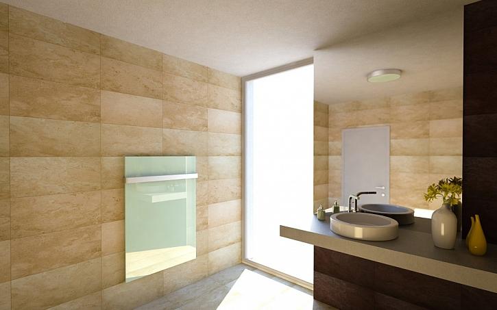 Sálavý GR panel v koupelně