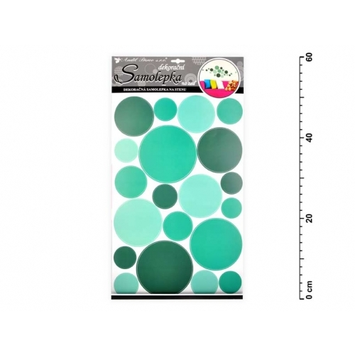 Anděl samolepící dekorace 10168 kolečka zelená 60x32 cm