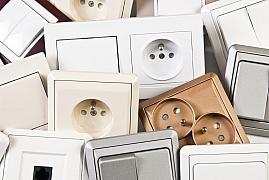 Moderní designové vypínače a zásuvky