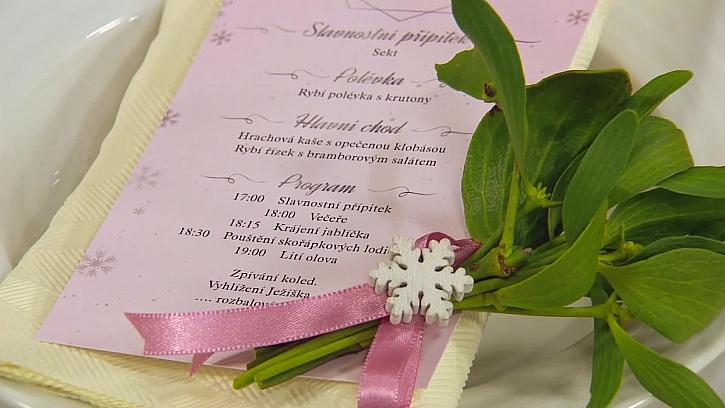 Sváteční menu nebo program