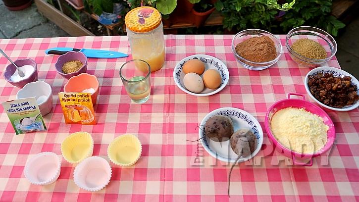 Recept na řepné muffiny: suroviny