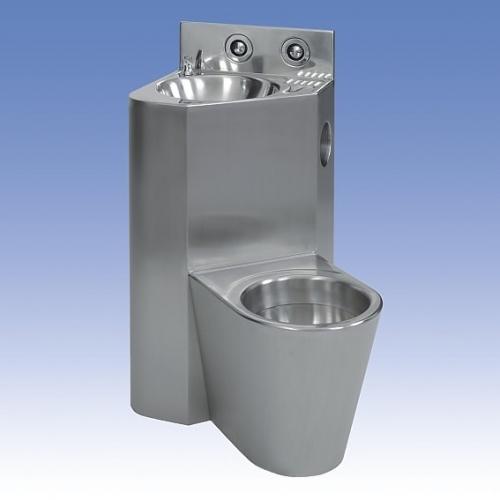 SANELA WC s umyvadlem do rohu SLWN 08ZP, WC závěsné vpravo, závitové tyče